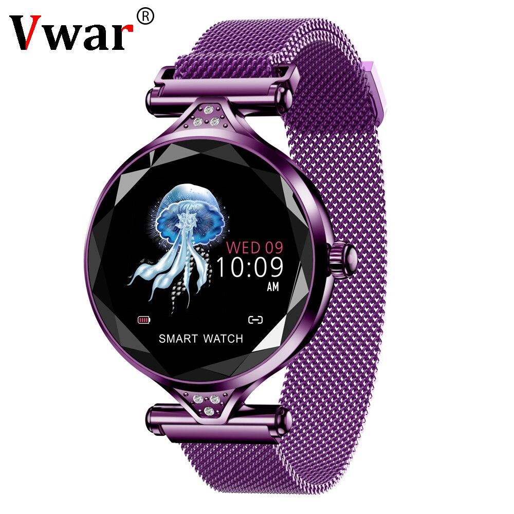 Vwar femmes mode montre intelligente 2019 tension artérielle fréquence cardiaque sommeil moniteur podomètre luxe dames Smartwatch cadeau pour fille