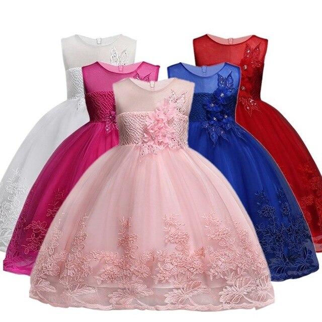 Vestido de la muchacha nuevo arco rayas princesa vestido de niñas ...