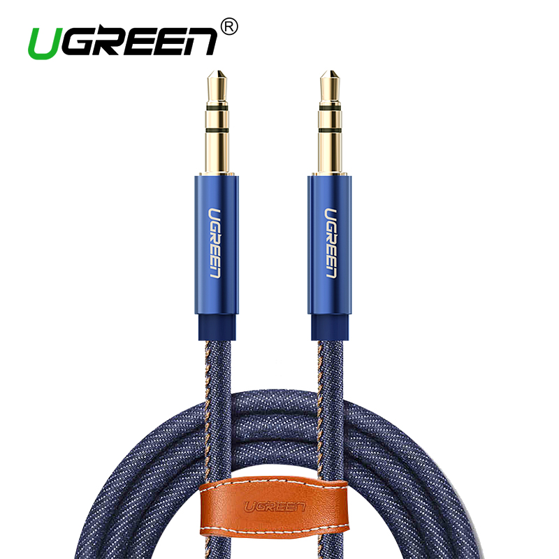 Ugreen AUX 3.5mm Car Aux Cable Retro Denim Auxiliary Audio Cable for iPhone 7 Car Stereos iPod iPhone Beats Headphone Aux Cord