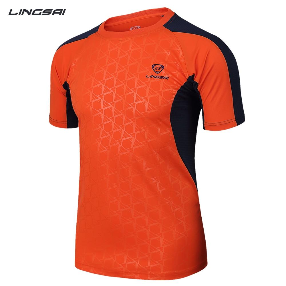 Shirt design contest 2017 - Lingsai Brand New Arrival 2017 Men Designer Soccer Jerseys T Shirt Sports Quick Dry Slim Fit