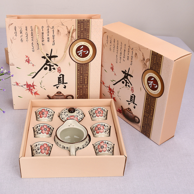 Ceramic Kung Fu Tea Sets Gift Wedding Favor Corporate Events Promotional Gifts Souvenirs