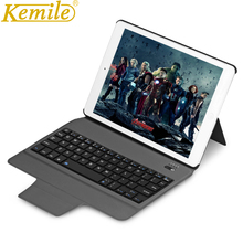 Kemile Ultra Slim Smart Bluetooth Keyboard Case Cover for iPad 2 3 4 with Stand Auto Sleep&Wake+Gift