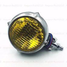 Amber Retro Headlight font b Lamp b font for Harley Honda Kawasaki Suzuki Yamaha Triumph Crusier