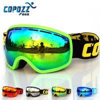 COPOZZ Brand Professional Ski Goggles Double Lens Anti Fog UV400 Big Mask Skiing Snowboarding Men Women