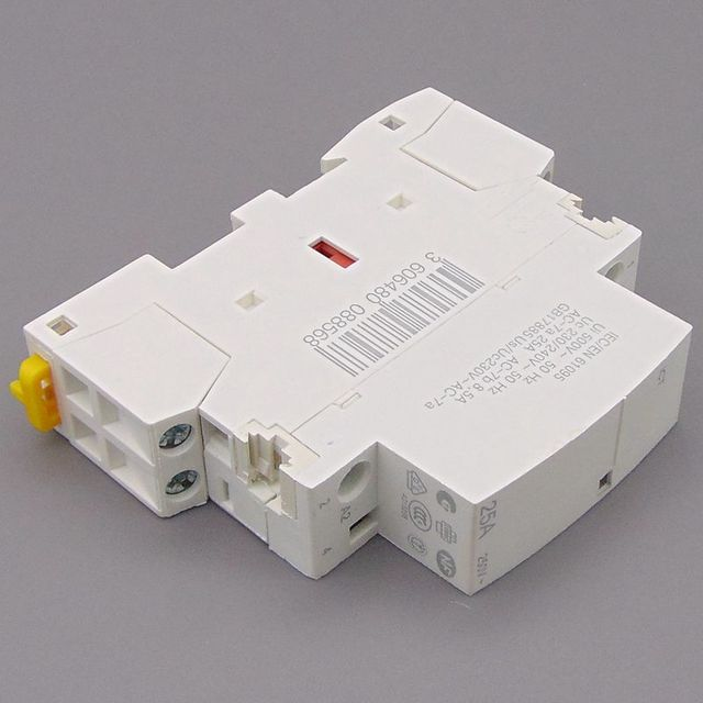 CT 2P 25A 220V/230V 50/60HZ Din rail Household ac contactor 2NO