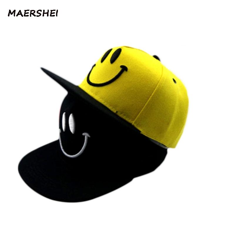449fb37b0 MAERSHEI Hip hop cap children kids hat cap Snapback colorful mixed-smiling  baseball caps spring ...