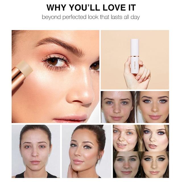 O.TWO.O Concealer Stick Foundation Makeup Full Coverage Contour Face Concealer Cream Base Primer Moisturizer Hide Blemish 3