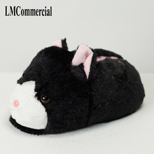 Indoor Slippers Special offer custom a warm winter home cat slippers thick hard bottom shoes on floor lovers shoes цены