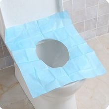 3 piece/lot Disposable toilet mat Tours travel waterproof toilet paper potty sets toilet cover set o ring toilet mat installed(China)