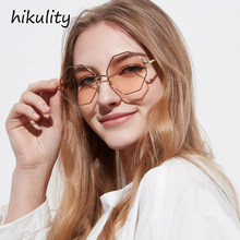 e989ad80f55 Octagon Designer Sunglasses Women Brand Designer New 2018 Pink Color Ladies Shades  Retro Polygon Sun Glasses Female Lunette