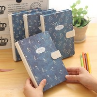 KIMCOOL Wash Excessive Magnificence Series 32K Notebook Magnetic Button Creative Vintage Student Notepad Diary Thick Notebook