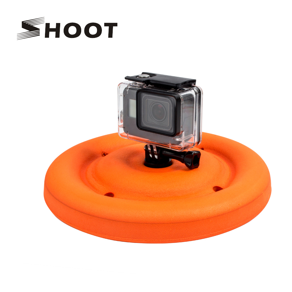 SHOOT Multi-function Lightweight Round Floating Disc Dog Toy for Gopro 6 5 4 3 Yi 4K SJCAM Water Sports Camera Accessory