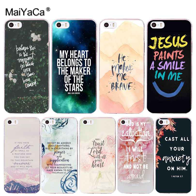 MaiYaCa Bijbel Filippenzen Jezus Christus Christelijke telefoon case cover voor Apple iPhone 8 7 6 6S Plus X 5 5S SE XR XS XS MAX Cover