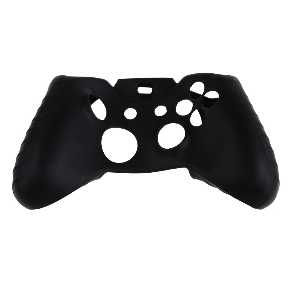 Soft Grip Silicone Game Case Gamepad Cases Game Controller Soft Protector Cover Skin Shell Frame Black for Xbox One Controller for xbox one full housing shell case with 3 5 mm heatset jack replacement custom controller gamepad for xbox one x1 original
