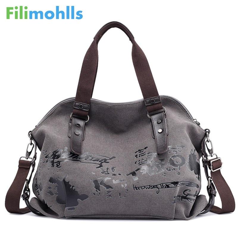Women's Shoulder Bags Vintage Graffiti Canvas Handbags Famous Designer Female Shoulder Bags Ladies Totes Fashion Large Bag S1767