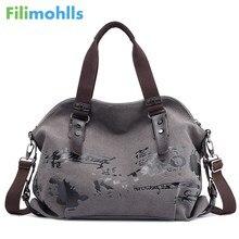 Женские сумки через плечо, винтажные холщовые сумки с граффити, известный дизайнер, женские сумки на плечо, женские сумки, модная большая сумка S1767