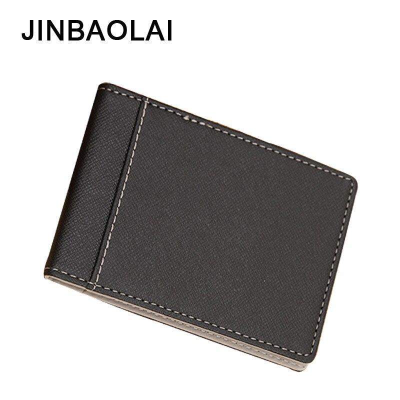 JINBAOLAI Brand Men Wallets PU Leather Wallet Purses Ultra Thin Male Money Clips Casual Solid Short Purse For Men Wallet 4 Color велосипед stels navigator 250 2016