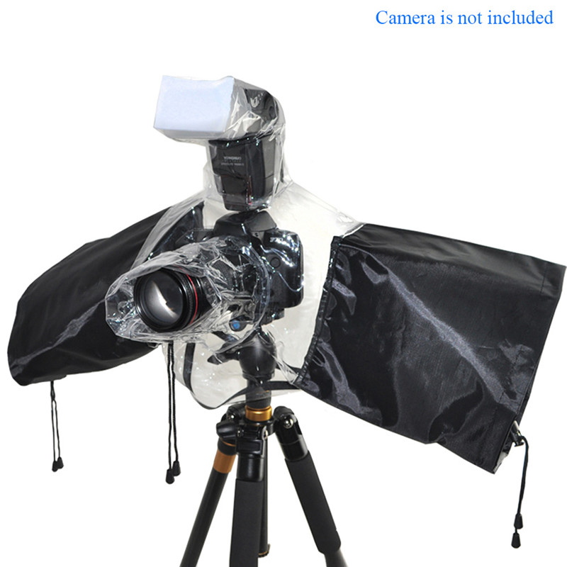 Waterproof Rainproof Camera Rain Cover Against Dust Flash Protector for Canon EOS Nikon Sony Pentax Olympus Fuji DSLR SLR