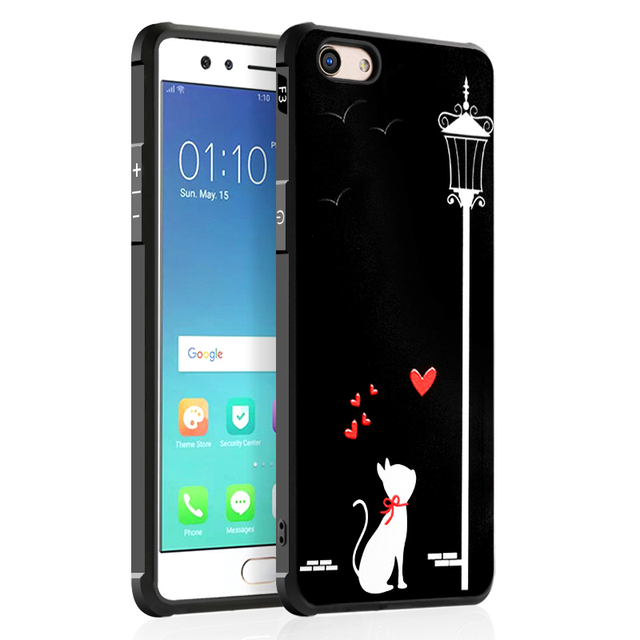 online store 4ceb0 6d524 US $4.98 |OPPO F3 / Oppo F3 plus Cartoon Soft Silicone case,Ultra Thin Back  Cover Case Protective Anti knock Armor Bag Shell Skin-in Fitted Cases from  ...
