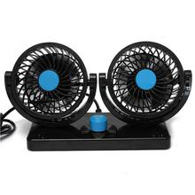 360 Rotating Free adjustment Car Auto Cooling Air Fan Ventilation Dashboard Electric Car Fan Summer Cooling Air Circulator(China)