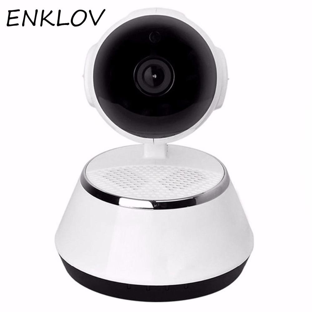 ENKLOV Home Security IP Camera Wireless Smart WiFi Camera WI-FI Audio Record Surveillance Baby Monitor HD Mini CCTV Camera iCSee