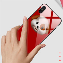 TOTU cute mobile phone case glass for iphone X 10 ultra-thin back cover Apple TPU + PC