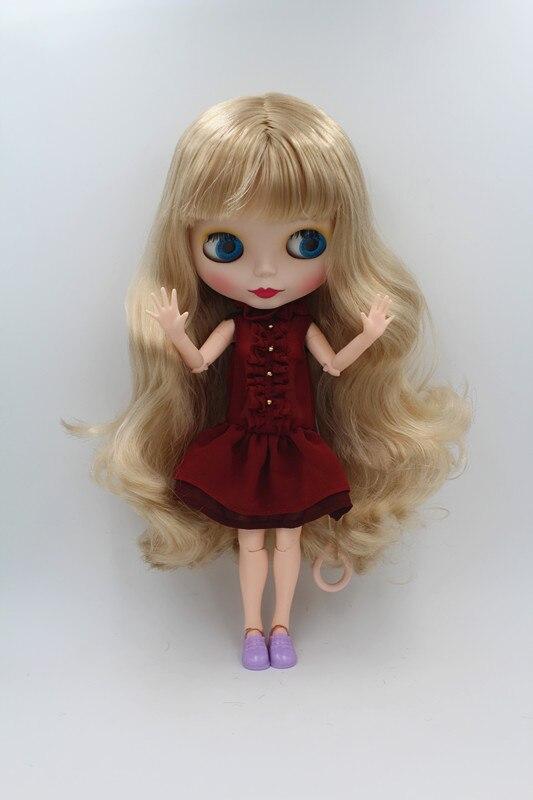 Blygirl Doll Light golden flequillo pelo Blythe conjunta cuerpo Doll - Muñecas y accesorios - foto 1