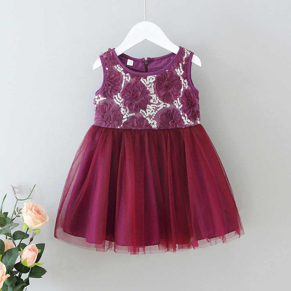 Летнее платье принцессы для девочек; детское праздничное платье; детское платье-пачка с цветком розы; Модная одежда для девочек