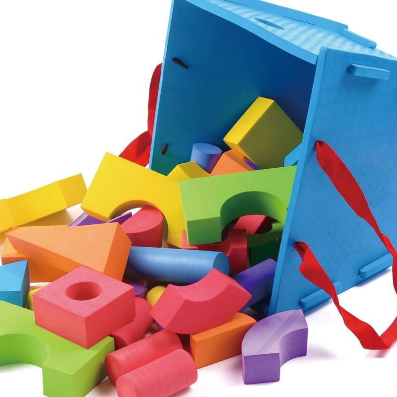 Children early learning toy eva foam building blocks kids for Foam block homes
