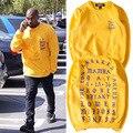 Я Чувствую, Как Пабло Kanye West Yeezy Кофты С Капюшоном Мужчины Женщины Хлопка Высокого Качества Хип-Хоп Одежды Привет-Улица Yeezy Кофты