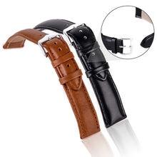 Роскошный ремешок для часов 12 мм 14 16 18 20 22 24 мягкий кожаный