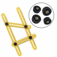 Multifunctional Ultimate Angleizer With Metal Knobs Diy Template Tool Four Sided Ruler For Handmen Builders Or