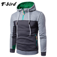 T Bird Hoodie Men 2017 Fashion Stitching Sweatshirt Casual Men S Hoodies Sweatpants Hip Hop Male