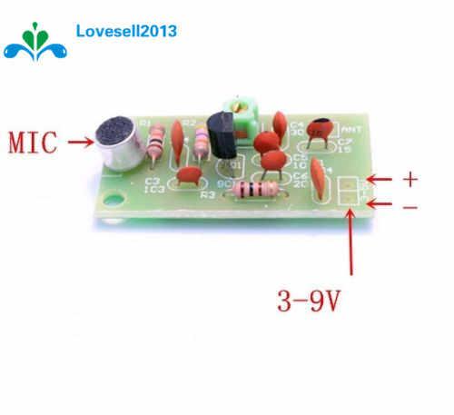 送料無料fm送信機モジュールミニワイヤレスマイクアマチュア無線周波数pcbボード91-103 mhz 3ボルト-5ボルトdc用diy