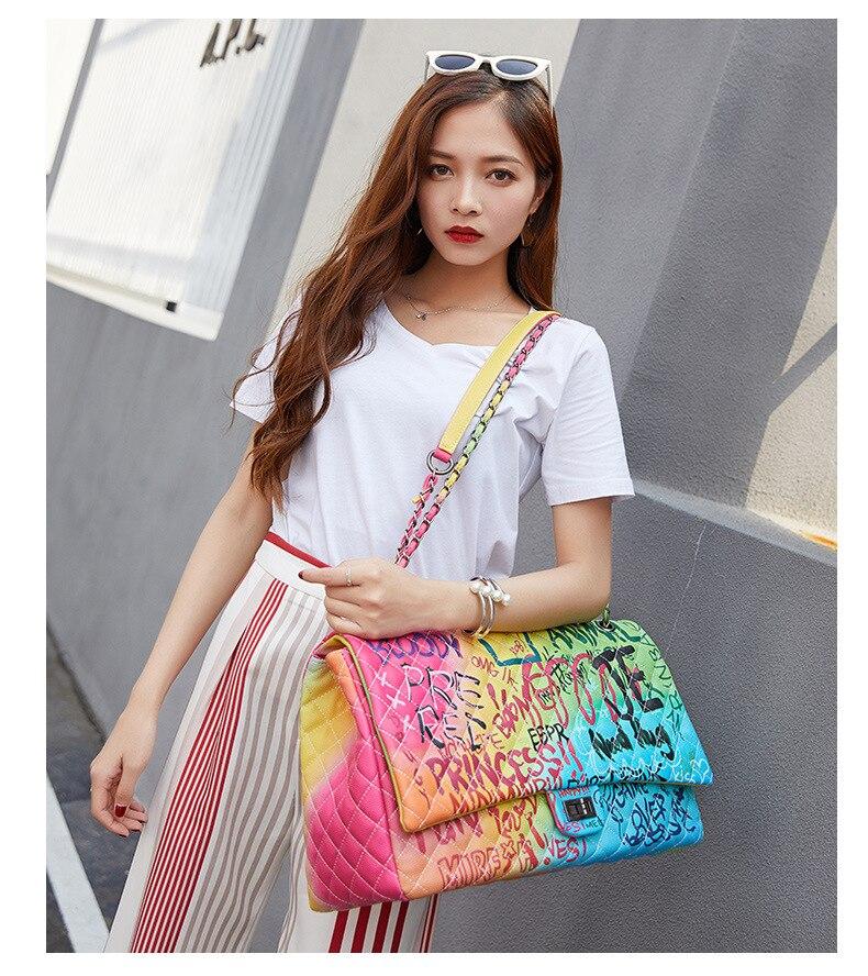 impresso senhoras bolsas designer luxo bolsa feminina