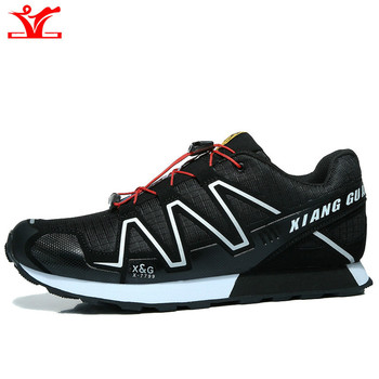 New cross country outdoor sports anti slip hiking shoes men's and women's  hiking shoes