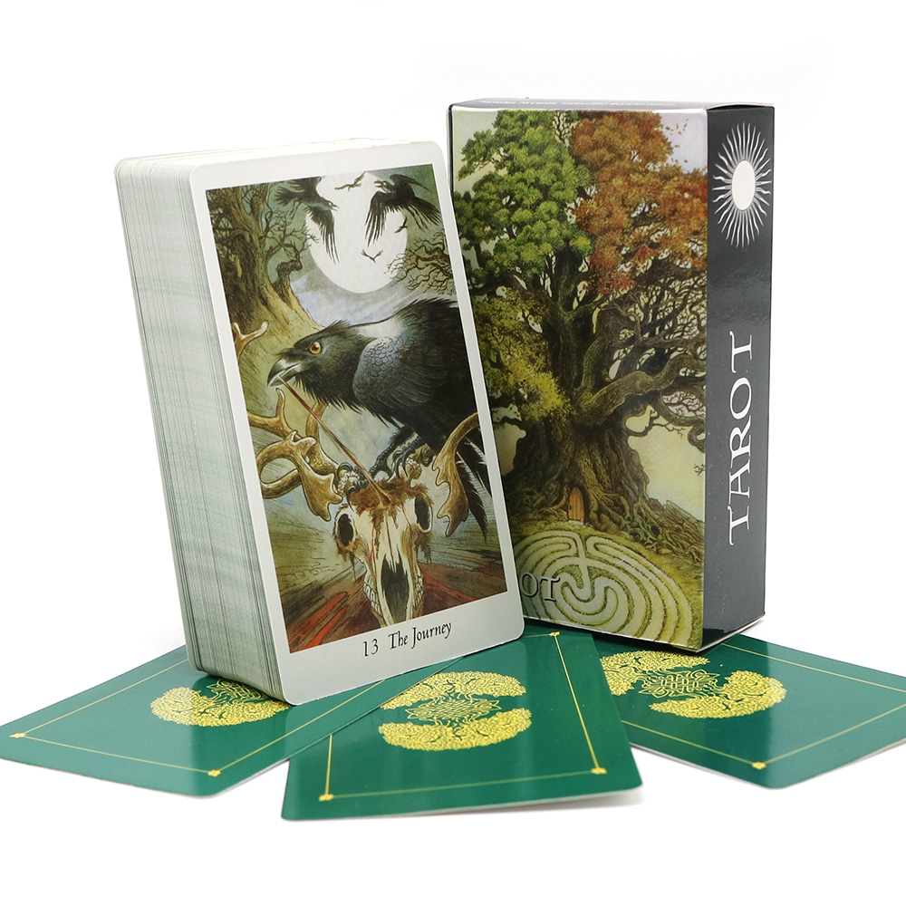 Natur tarot deck mysterious tier spielkarten spiel Voller Englisch spielkarten brettspiel