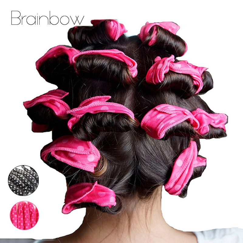 Brainbow 10PC Magic Sponge Pillow Soft Hair Roller Flexible Foam&Sponge Hair Curlers Rollers DIY Salon Hair Care Styling Tools