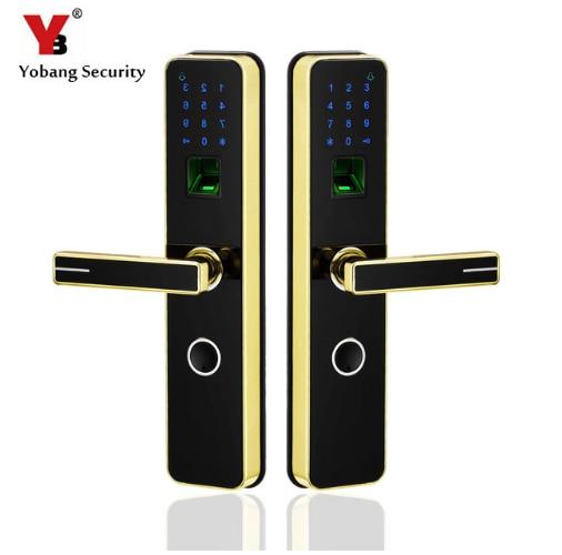 Electronic Smart Door Lock Fingerprint+4 Cards+2 Mechanical Keys Keyless Code Lock Smart Entry Office Home