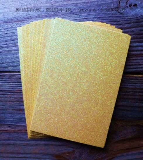 250g A4 Golden Yellow Glitter Thick Paper Sparkle Sparkling Cardstock For Card Making Craft Scrapbooking 10/20/30pcs You Choose