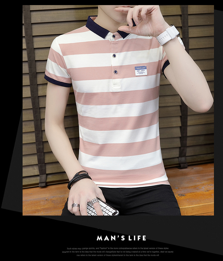 New summer high quality striped short sleeve polo shirt men brand clothing fashion Korean casual slim fit male camisa 9018Z 22