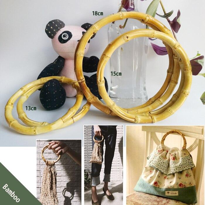 1 pairs=2 pieces,13cm 15cm 18cm Nature Colors Bamboo Purse Hangers Obag Handle DIY Accessories Bamboo Purse Frame Handles