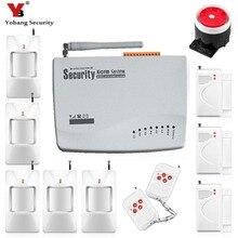 YobangSecurity Anglais Russe de Sécurité À Domicile Sans Fil Filaire GSM-10A système D'alarme 433 Mhz Télécommande PIR/Porte Capteur D'alarme Kit