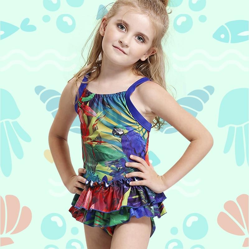 New Girls Swimwear Kids One Piece Swimsuit Children Swim ...