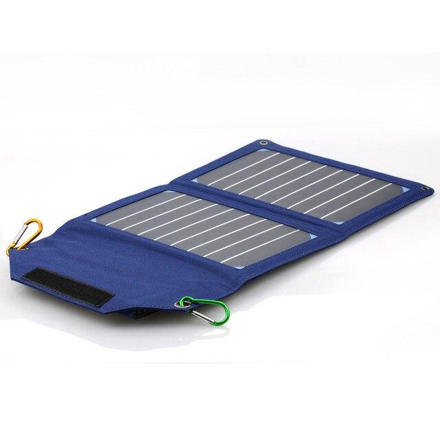 Портативный 8000 мАч Power Bank LED 10 Вт Складывающиеся Складной Панели Солнечных Батарей Пакет Мобильного Зарядное Устройство для Сотовых телефонов Лагерь открытый Путешествие
