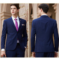 Custom Made Dark Blue Men Suit Tailor Made Suit Bespoke Navy Blue Wedding Suits For Men