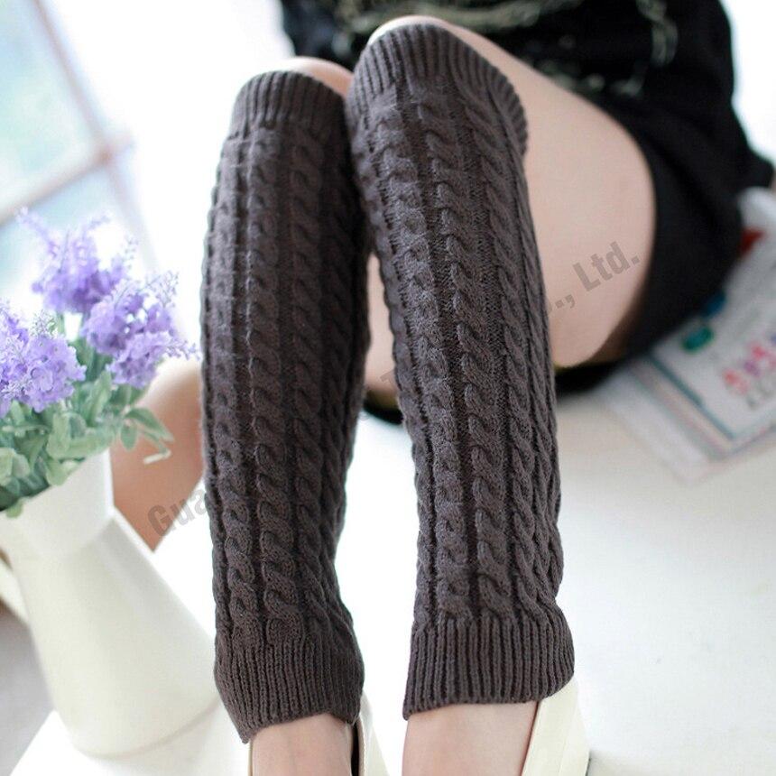Women Winter Knitted Leg Warmers Thigh High Knit Crochet