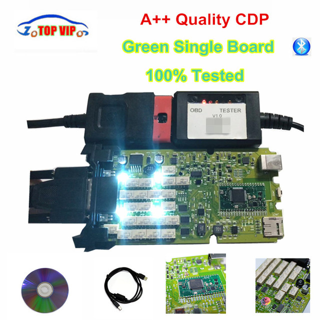 Best Price A++ Quality Green Single Board CDP PRO Low Price TCS CDP bluetooth 2016.00 newest Software New VCI TCS CDP Pro Scanner