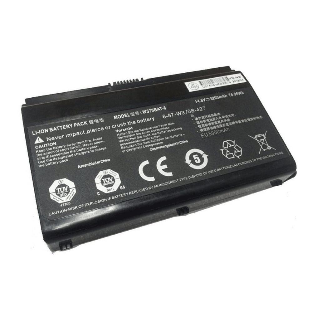 14.8v 5200mah Lapotp Battery for Clevo W370bat-8 W350et W350etq W370et Sager Np6350 Np6370 Schenker Xmg A522 Xmg Xmg A722 Series