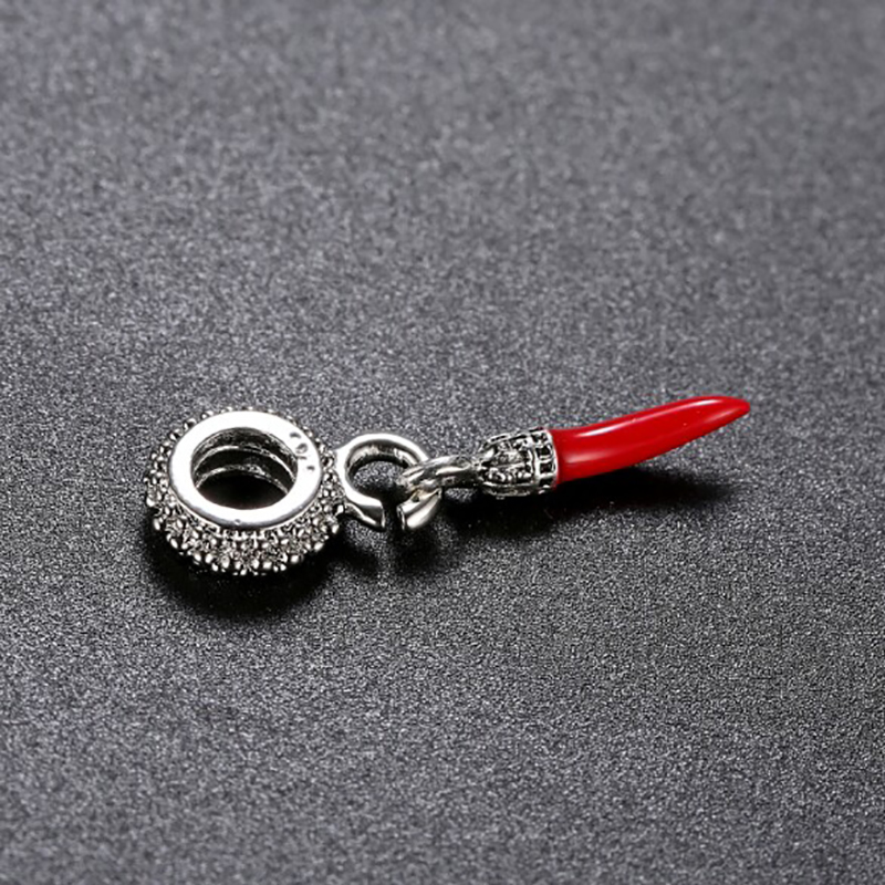 Red Chili Beads Charms Fits Pandora Silver 925 Original Charm Bracelet Jewelry Valentine 39 s Day Mary Poppins Bijoux DGB557 in Charms from Jewelry amp Accessories